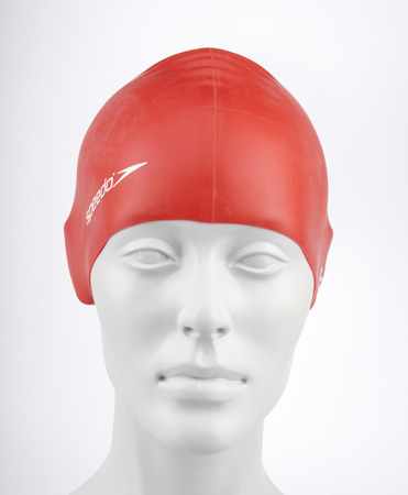 Czepek pływacki Speedo Plain Flat Silicone Cap Junior Team - red