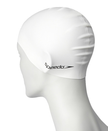Czepek pływacki Speedo Plain Flat Silicone Cap Junior Team - white
