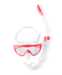 Zestaw Speedo Junior GLIDE SNORKLE SET - Pink