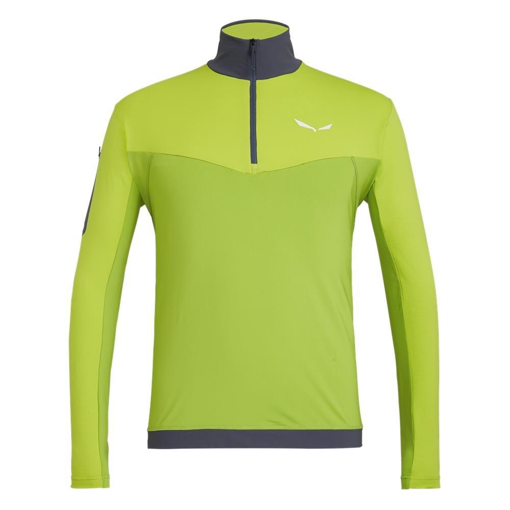 344bcf43e Koszulka Salewa ORTLES M L/S ZIP TEE - 5791 lime punch/5250/3860 Zielony -  Salewa24.pl - ODZIEŻ MĘSKA Koszulki T-shirt Top