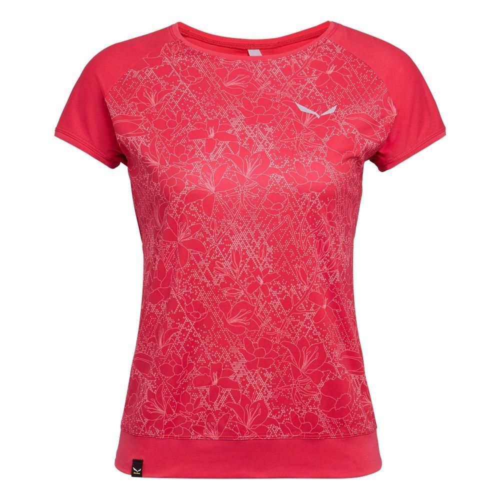 36c3ce532c5226 Koszulka Salewa PEDROC PRINT DRY W S/S TEE - 1831/rose red FLOWER Czerwony  - Salewa24.pl - ODZIEŻ DAMSKA Koszulki T-shirt Top