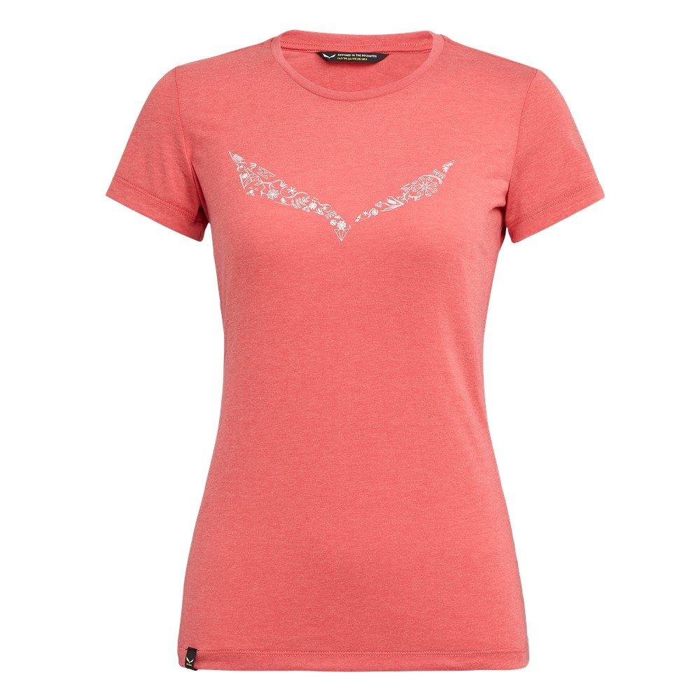 009611a6e1c16e Koszulka Salewa SOLID DRI-REL W S/S TEE - 1535/rouge red melange Czerwony -  Salewa24.pl - ODZIEŻ DAMSKA Koszulki T-shirt Top