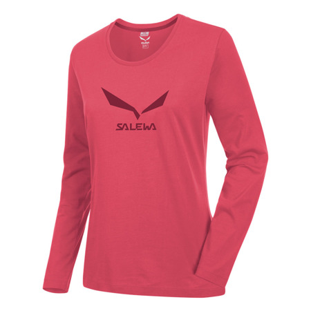 Koszulka Salewa SOLIDLOGO 2 CO W L/S TEE - 1890/mineral red